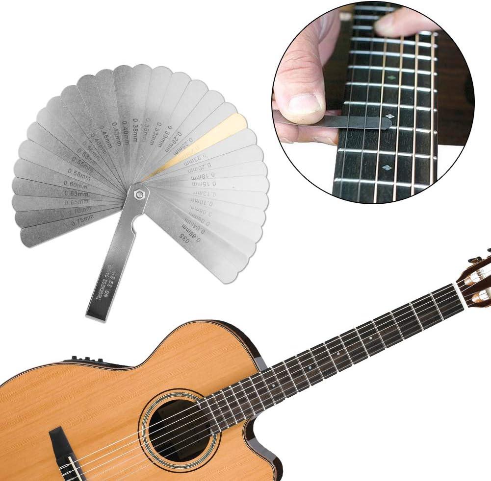 Edelstahl Hals Lücke Lineal Gitarre Messgerät Instrument Repair Tool