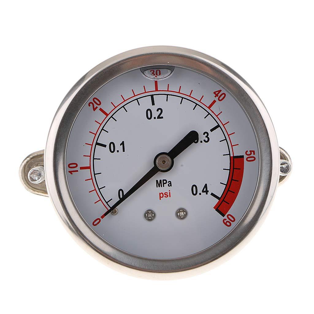 B Blesiya Manomètre Pression du Compresseur D'air Indicateur de Pression D'air à Huile - 0.4mpa