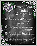 Wedding chalkboard style print, funny party decor, funny Dance print, Funny wedding decor, rustic reception decor, country wedding wall art, Funny Dance Floor Rules