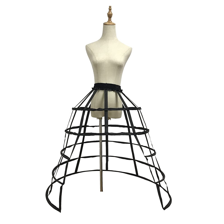 Steampunk Clothing FunStation Womens 5 Hoops Skirt Pannier Petticoat Crinoline Underskirt Bustle Cage $32.50 AT vintagedancer.com