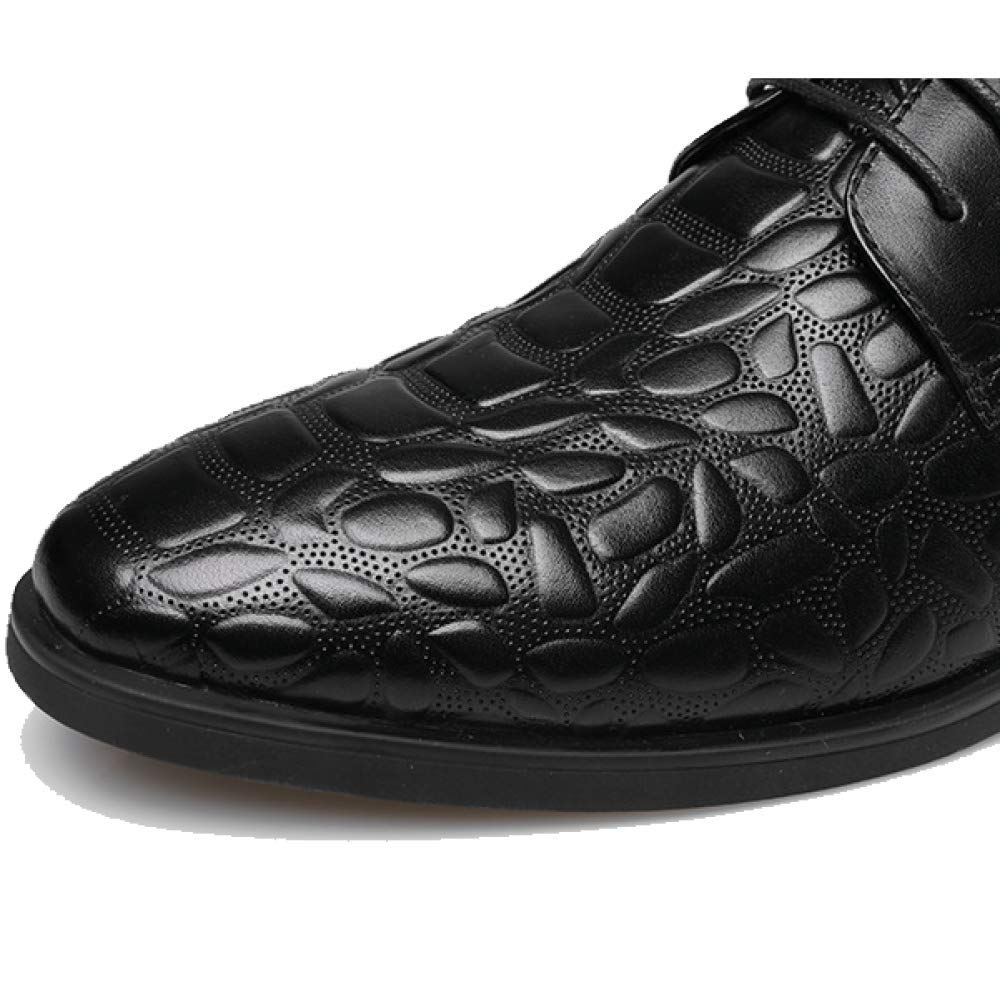 Herrenschuhe Mode Niedrig Business Breathable Beiläufige Spitze Niedrig Mode Top Schuhe Hochzeit Schuhe schwarz 3435d6