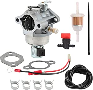 Venseri 20-853-33-S Carburetor Overhaul Kit with Fuel Line Filter for Kohler Courage SV Series SV470 SV480 SV530 SV540 SV590 SV591 SV600 SV601 SV610 SV620 SV530S SV540S Engine