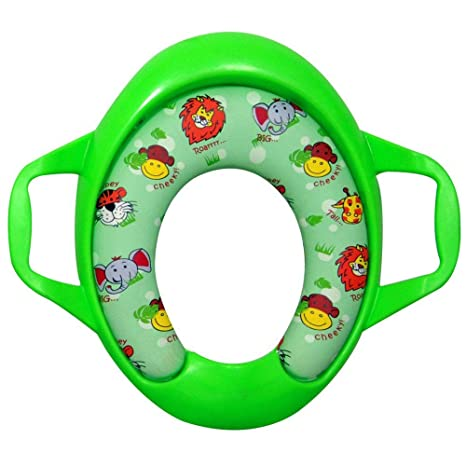 Sunbaby Soft Cushion Baby Potty Seat with Handle Support   Madagascar Edition  Green