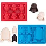 Kamehame Silicone Chocolate Candy Molds For Star Wars Fans, Darth Vader and R2-D2 Mold For Jello,Cake Decoration, Caryon…