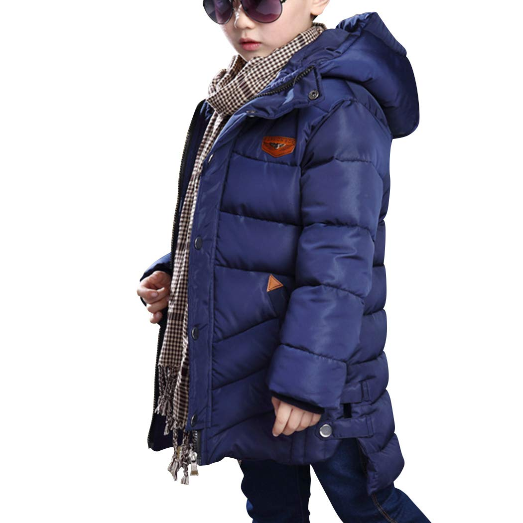 YISUMEI Boy Winter Version Coat Cotton Jacket Blue 12