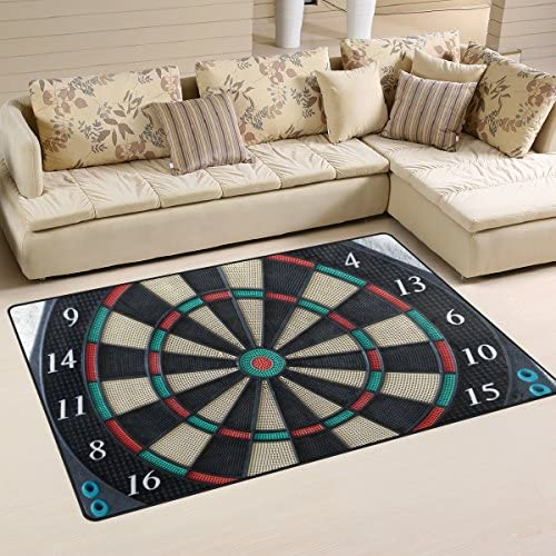 DEYYA Game Darts Board Wheel Area Rug Carpet 3 x5