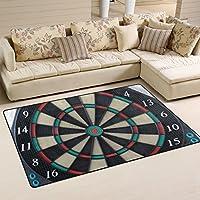 DEYYA Game Darts Board Wheel Area Rug Carpet 325 x 5, Vogue Modern Floor Rugs Mat for Office Home Living Dining Room Decoration