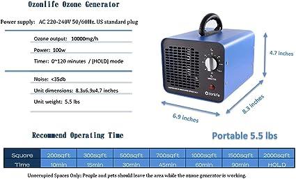 Generador de ozono esterilizador Envío en 24//48 h.