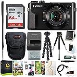 Canon PowerShot G7X Mark II Digital Camera with Corel Software and 64GB Bundle