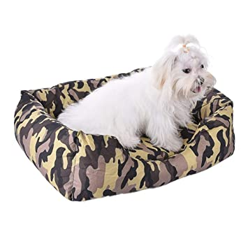 NANIH PetSuppliesMisc Cama para Perros Cat Cave Lounge con Cama extraíble Esteras de Camuflaje Camas para