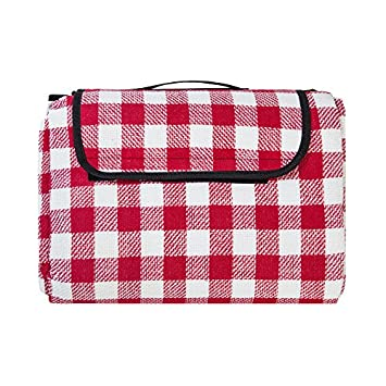ZhongBan Extra Large Picnic Outdoor Blanket with Waterproof Backing 80 x 90