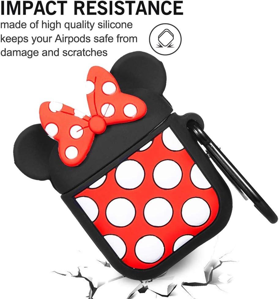 Mosquet/ón 2019 Ash-case AirPods Case Silicone Compatible con AirPods 2 /& 1 Estuche Protector a Prueba de Golpes Admite Carga inal/ámbrica , Cute 3D Cartoon Mickey Disney Armor
