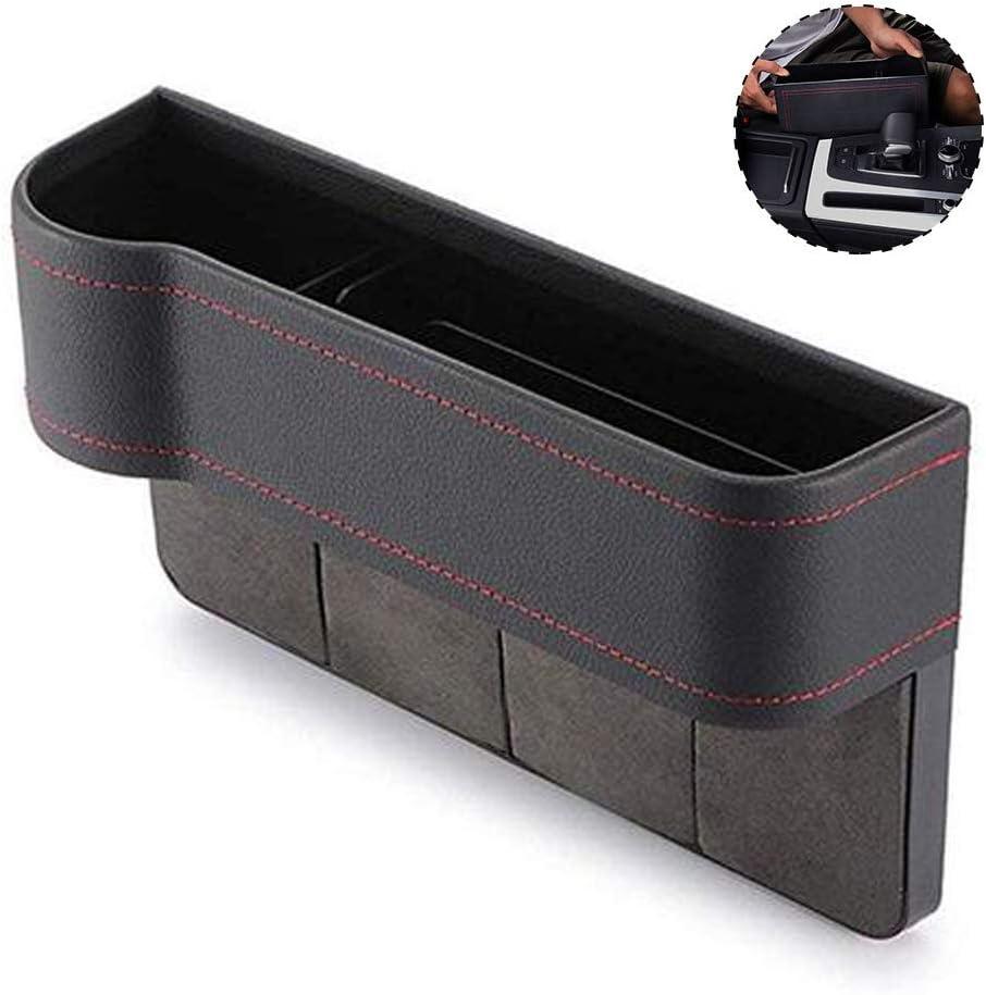 GLOBALDREAM Universal Auto Seat Gap Organizer Aufbewahrungsbox Konsole Seitentasche Ledersitz Spalt Aufbewahrungsbox f/ür Brieftasche Telefon M/ünzen Zigarettenschl/üssel Karten Tassen Richtig