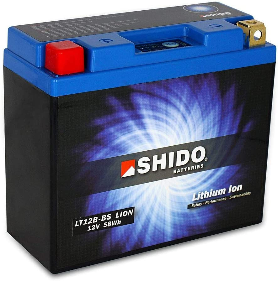 Shido LT12B-BS Lithium Ion Replacement Battery for Ducati 1200 Diavel Motorcycles 2011-2018