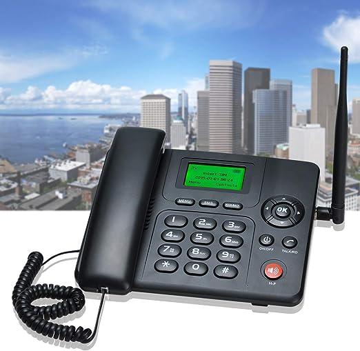 Lychee Teléfono Fijo gsm de Escritorio,WCDMA/GPRS/gsm 4 Bands 3G Teléfono Inalámbrico con Radio función,2 Sims Cards,Adecuado para Oficina y Hogar: Amazon.es: Electrónica