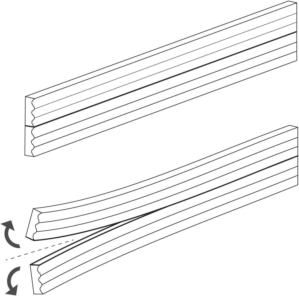 STEIGNER 15 m Joint de Fen/être Autocollant Profil E Blanc Joint en Caoutchouc EPDM Joint d/Étanch/éit/é