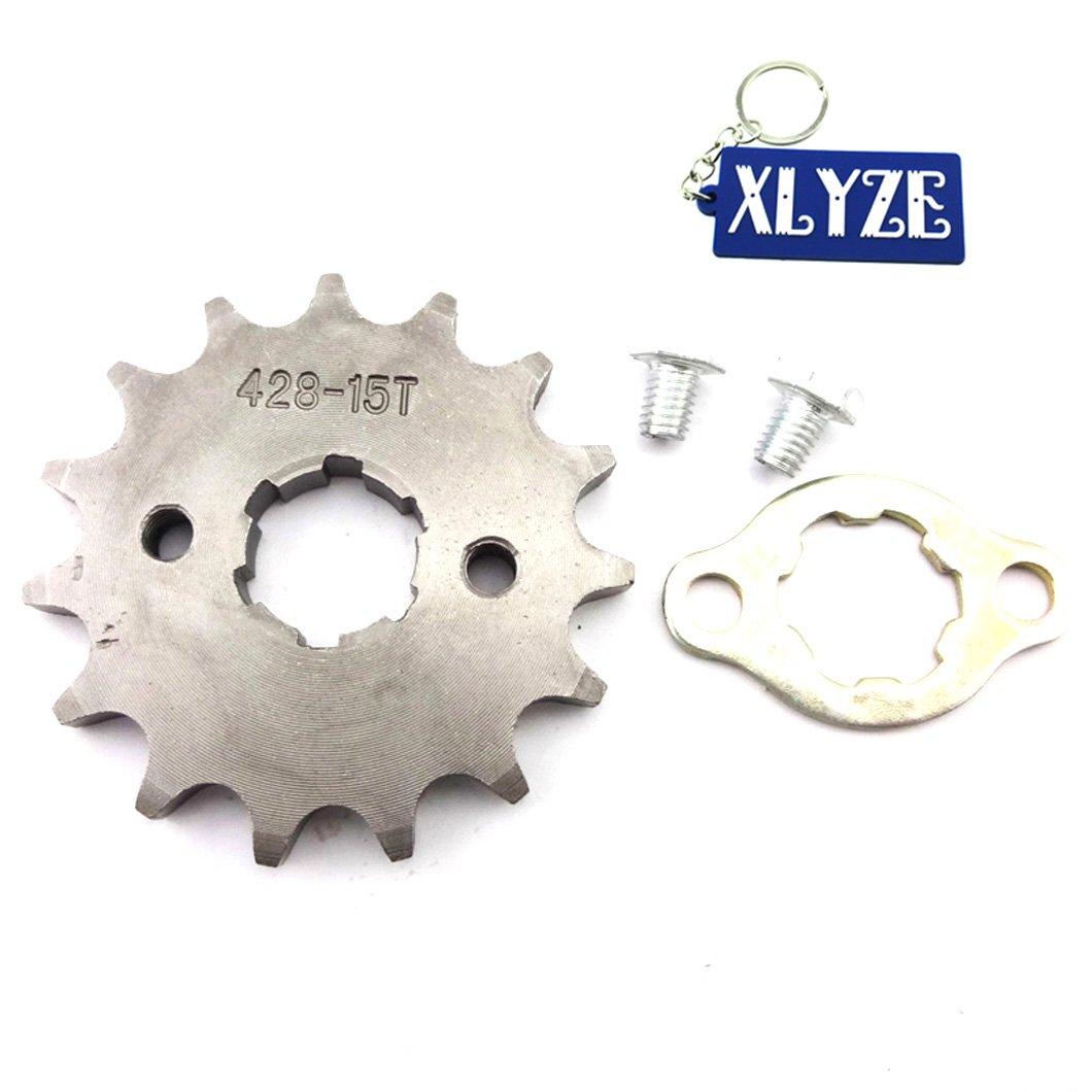 xlyze 428 15 dents 20 mm denture du pignon avant du moteur pour 50 cc 70 cc 110 cc 125 cc Quad ATV dirt Pit Bike CRF xR50 TTR SSR