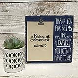 Step Dad Photo Block - Father's Day Picture Frame - Stepdad Bonus dad