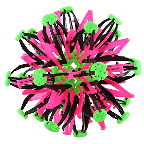 Expandable Sphere Transforming Mini Ball Toy - Hot Pink & Green