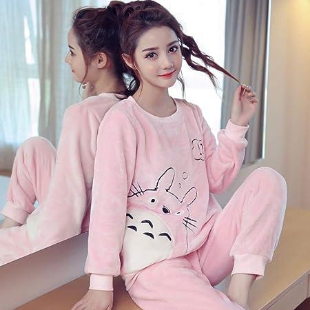 JYLW Pijamas Invierno Mujer Pijamas Calientes para El Regalo ...