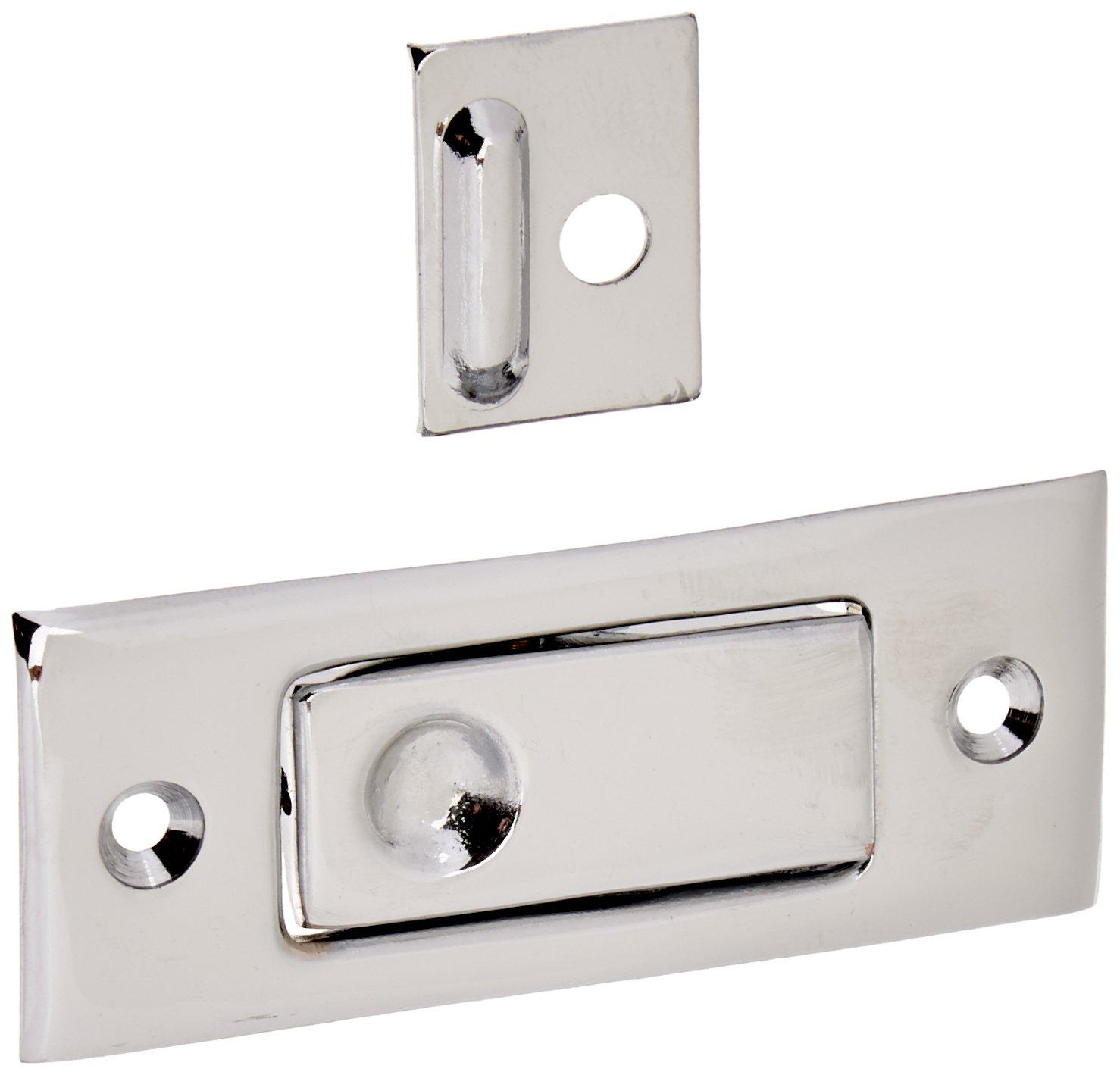 Deltana PDB42 3-1/16'' Solid Brass Pocket Door Jamb Bolt Polished Chrome