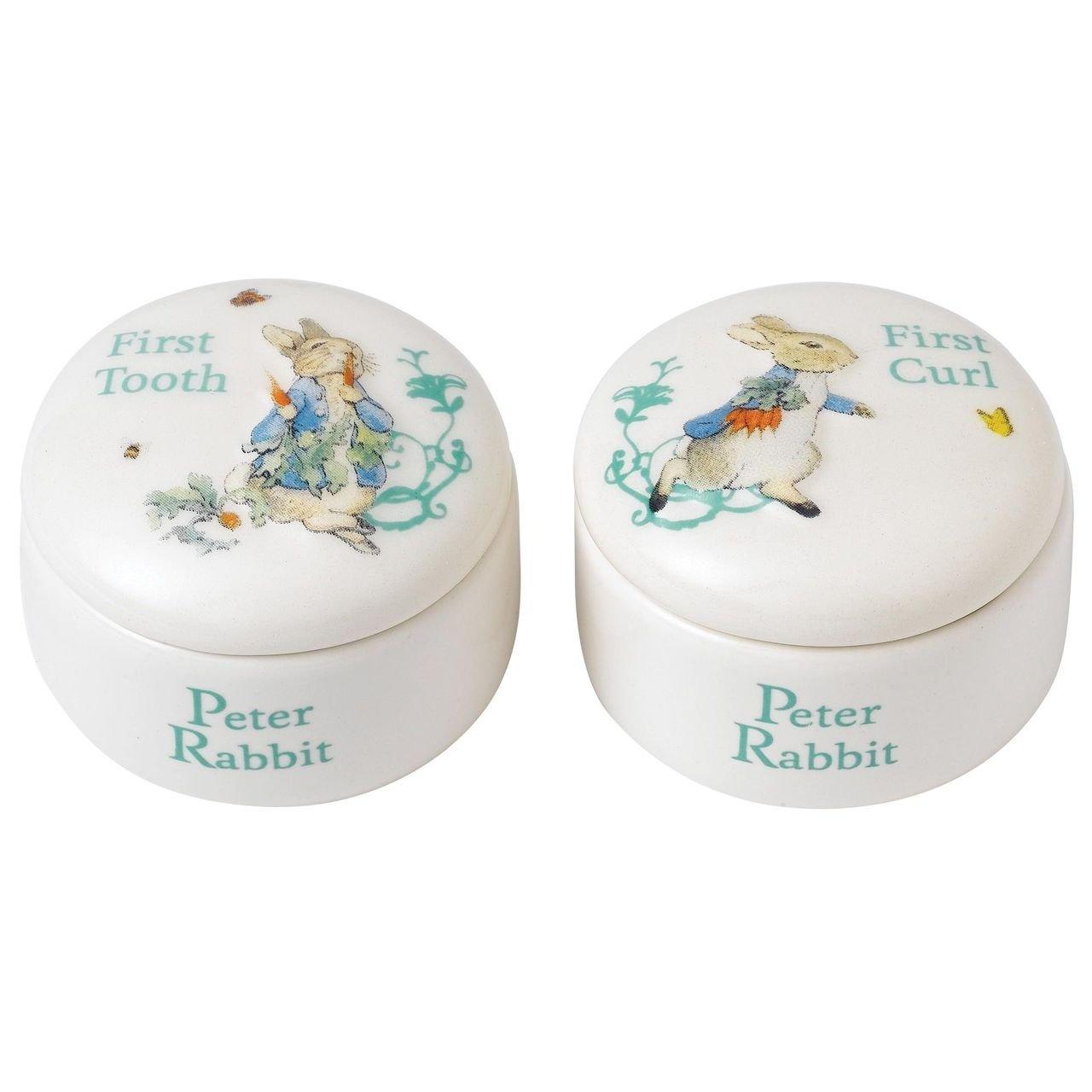 Beatrix Potter Peter Rabbit Tooth and Curl Box Enesco A25866