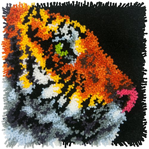 - Dimensions Tiger Latch Hook Craft Kit for Kids, 12'' x 12''