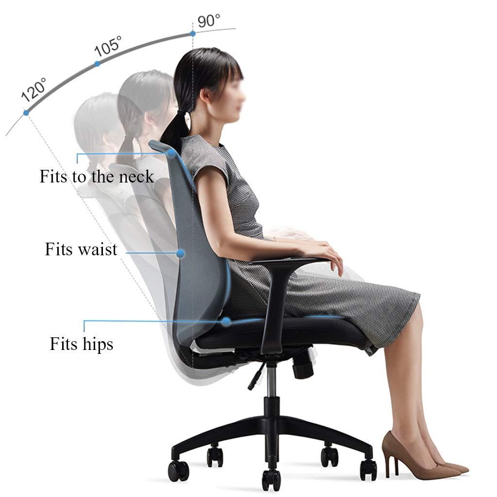 YYL kontorsstol kontorsstol, ergonomisk andningsbar mesh ryggstöd skrivbordsstol, justerbar datorstol med armstöd, svart svängbar stol (färg: Stil3) stil2
