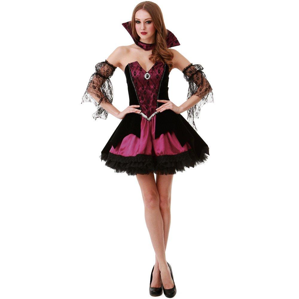 Medium Voluptuous Vampire Women's Halloween Costume Victorian Gothic Countess Dracula