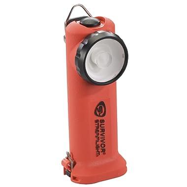 Streamlight 90540 Survivor LED Right Angle Flashlight,  Orange - 175 Lumens