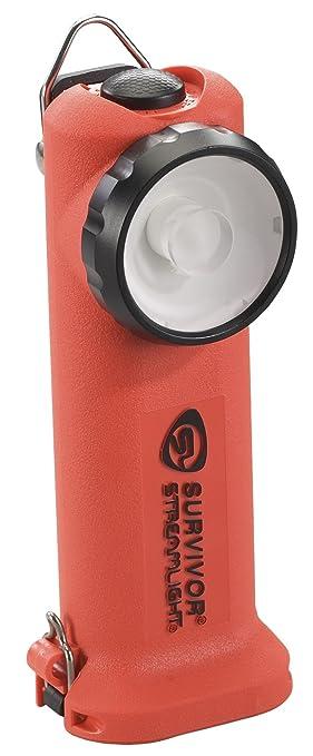 Streamlight       Survivor LED Flashlight with Charger        Inch  Orange   Basic Handheld Flashlights   Amazon com