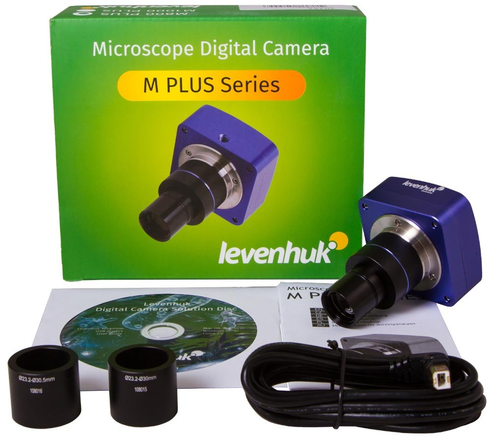 Levenhuk M800 Plus High-Resolution Digital Camera for Microscopes, Comes with Necessary Software (Compatible with Mac, Linux and Windows) by Levenhuk