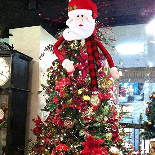Decoración para árbol de Navidad, tamaño grande, diseño de muñeco de nieve/ella/Papá Noel, decoración para el hogar,...