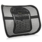 Lumbar Support for Office Chair Go Lumbar Support Extra Comfortable Adjustable Breathable Black Mesh Lumbar Back Cushion Support Fit All Types Office Chair Car Seat, Perfect Solution for Fatigue Back Pain Poor Posture Soreness