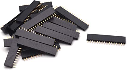 20Pcs 40pin 2.54mm Single Row Straight Female Pin Header Strip PBC Arduino TOP