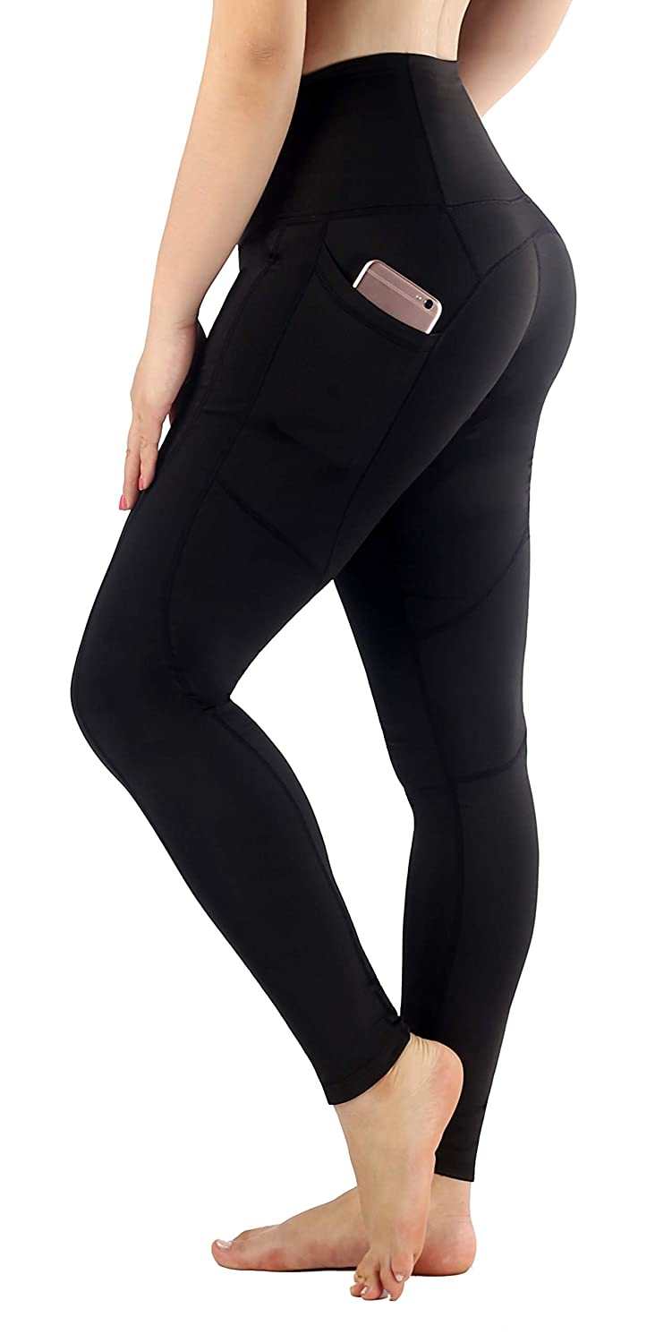 Black(Ankle) XLarge Sugar Pocket Women's Workout Leggings Running Tights Yoga Pants Red