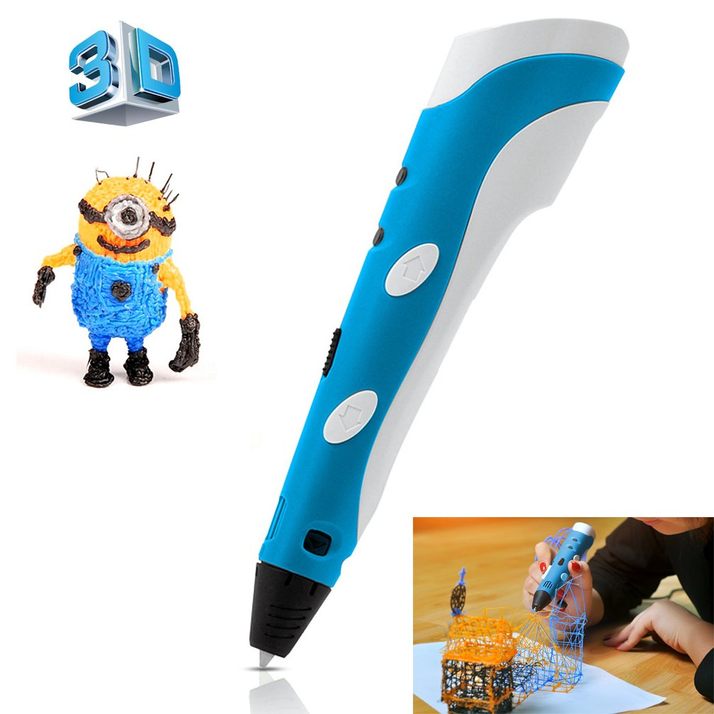 GooDee 3D Printer Pen 65g Entry Level 3D Stereoscopic Print with Free ABS supplies (Blue)