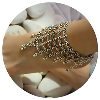 Ankle Bracelet Chain India Traditional Silver Tone Barefoot Anklet Beach Jewelry Fashion Jewelry