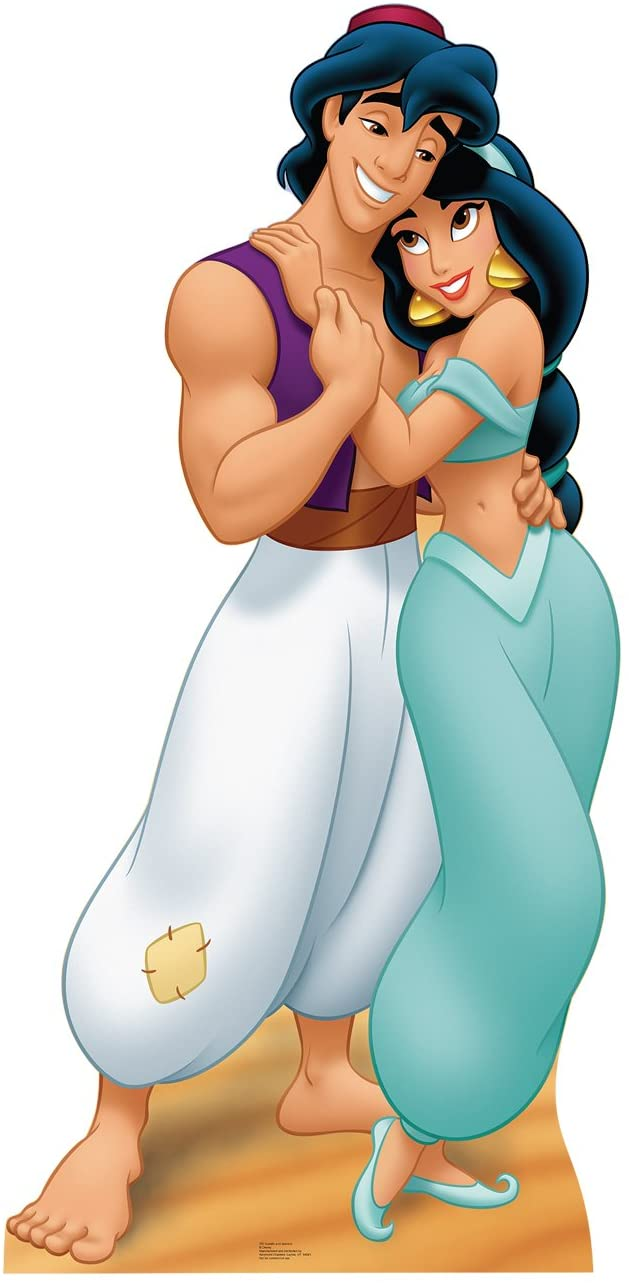 Advanced Graphics Aladdin & Jasmine Life Size Cardboard Cutout Standup - Disney's Aladdin