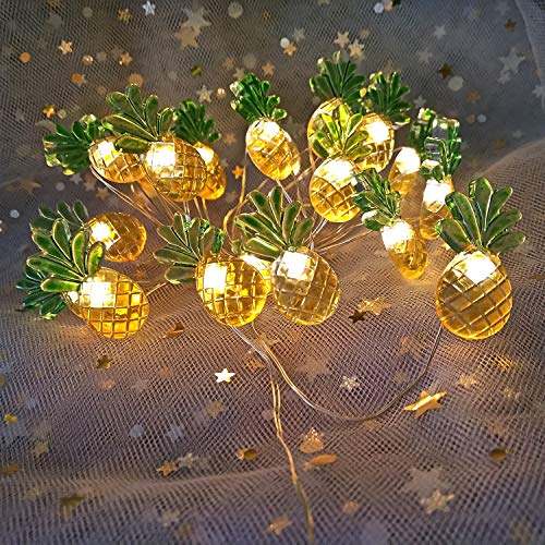 Easter Lights String Pineapple Decor centerpieces for Dining Room Bedroom Table Pineapple Lights Battery Operated Lights String for Easter Island Yard Tree Summer Theme Party Ornaments]()