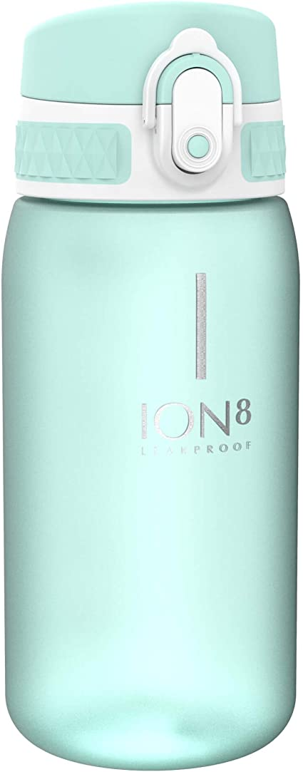Ion8 Leak Proof Kids' Water Bottle, BPA Free, Sea Foam