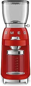 Smeg 50's Retro Style Aesthetic Coffee Grinder, CGF01 (Red)