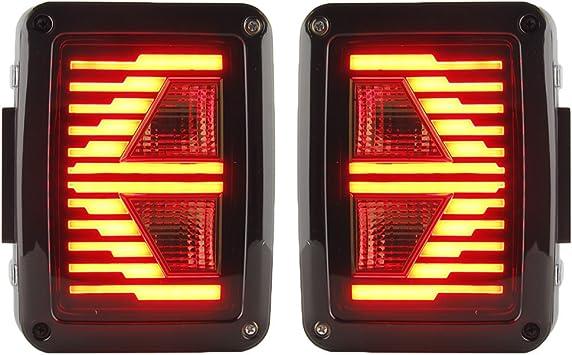 /2016/T Trasparente lampada LED 2/pezzi Fanale posteriore EU Montaggio ricambio bremsantrieb Corre Revers luce per WRANGLER 2007/