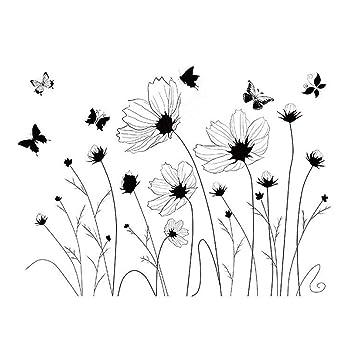 Top Von Top Store Cartoon Tiere Wandsticker Schmetterlinge Blumen