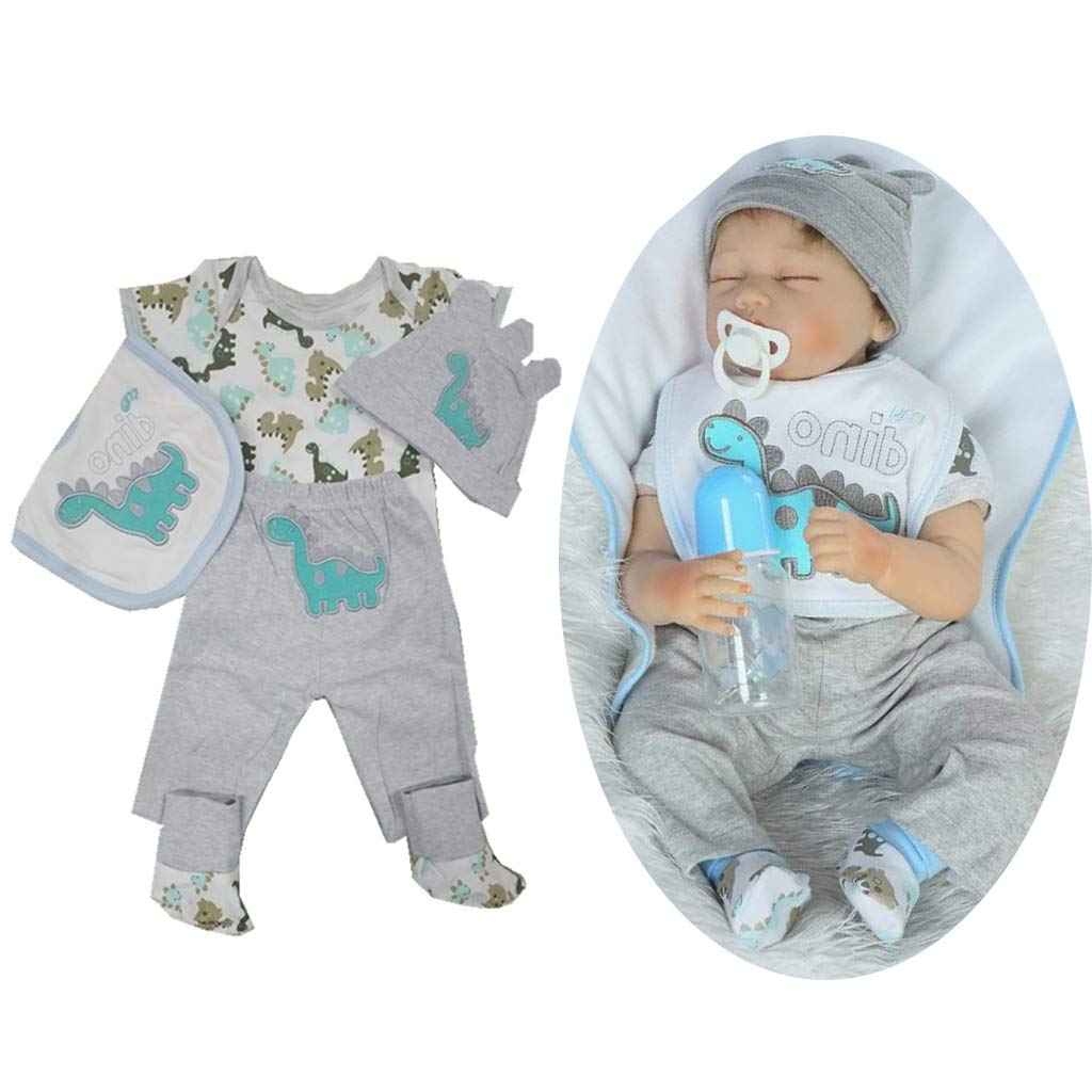 6 pcs Gris P Prettyia Juguete Traje de Vestir Mini Accesorios para Mu/ñecas Chicas Reborn 22-23 Pulgadas