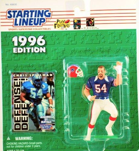 Starting Lineup Chris Spielman Figure with Trading Card 1996 NFL Football Buffalo Bills