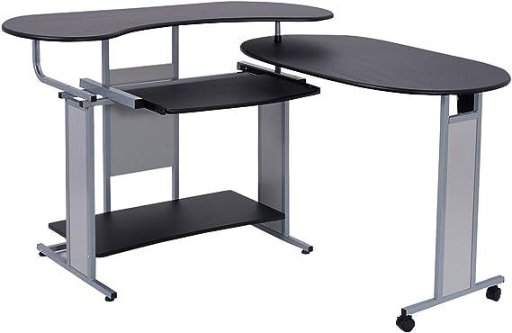Esquina escritorio de ordenador PC en forma de L ampliable mesa ...