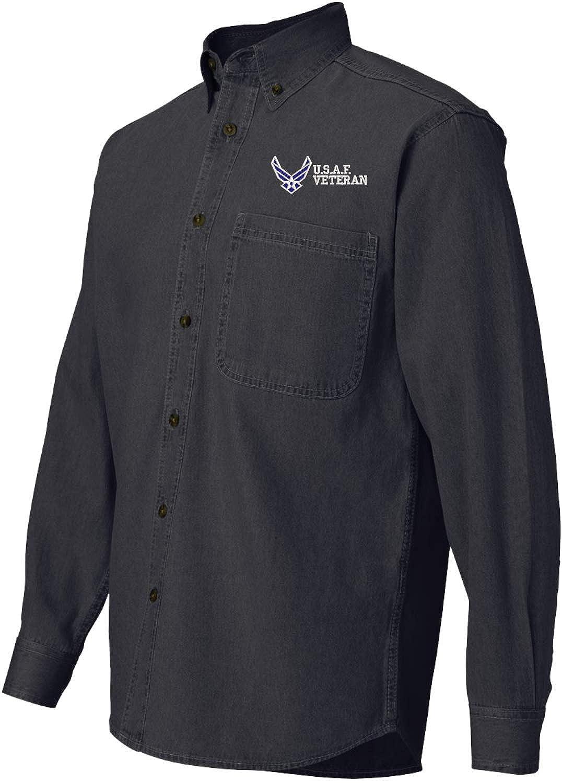MilitaryBest U.S.A.F Veteran Denim Shirt