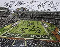 2016 OAKLAND RAIDERS AUTOGRAPHED Multi SIGNED Photo Poster Large 16x20 w/COA Derek Carr Khalil Mack