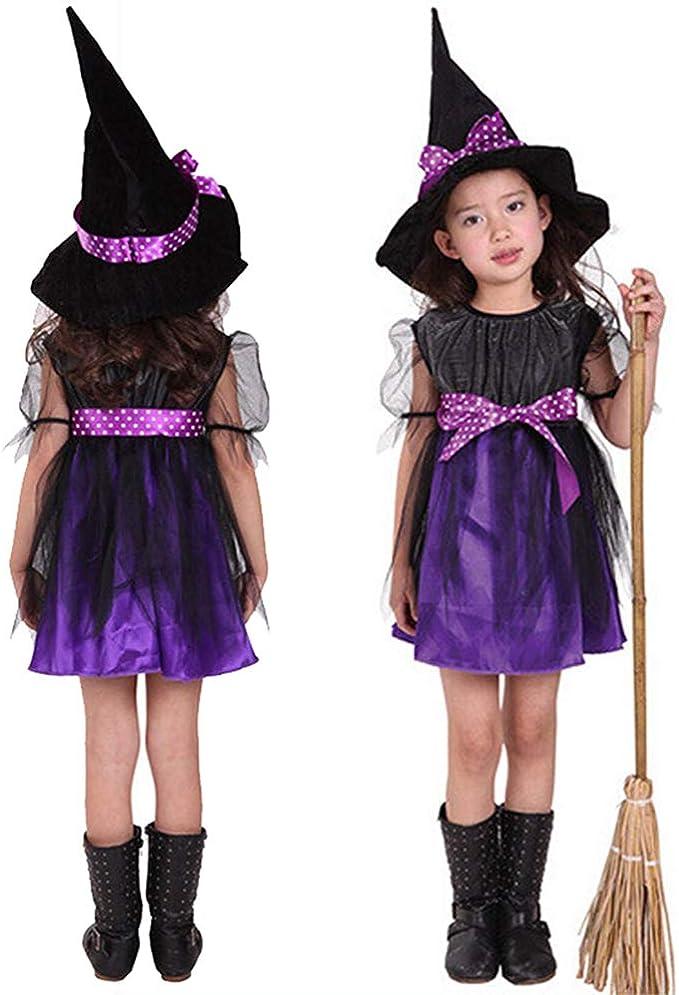 GZQ Falda de Bruja de los niños de Halloween, Vestido Bebé ...